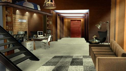 Montagem de cenário para comercial Telefônica SP - 2007