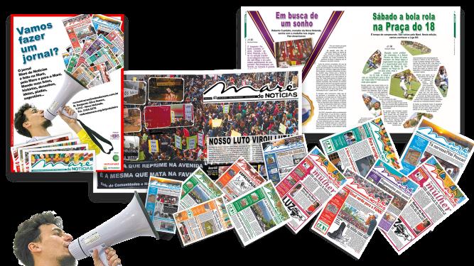 Importante projeto da Redes da Maré, o jornal ganhou um novo projeto gráfico, ganhando e dando voz em toda a Maré.